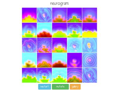 neurogram app web generative art abstract