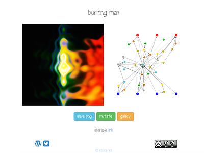 Burning Man neural networks app visualisation generation art social