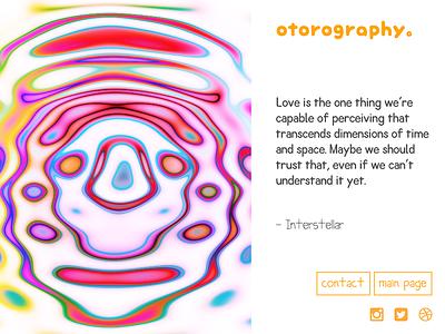 ōtorography design responsive css gallery art generative