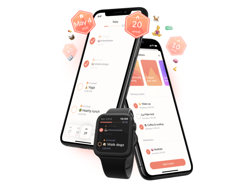 Carpe - Seize the day! apple watch routine habits ui ios iphone apple swiftui app
