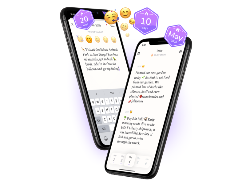 Diem - Daily journal swiftui swift design ui app ios iphone journal