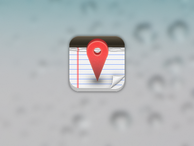 App Icon iphone app icon app icon coaches loupe red paper