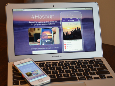 #Hashup Website website app ios iphone responsive html css video