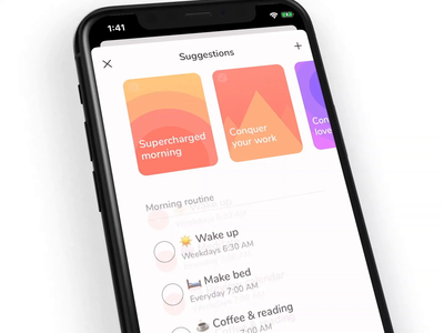 Carpe Suggestions animation ui app ios iphone