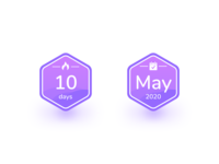 Diem Badges badges design ui app ios iphone