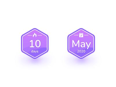 Diem Badges badges design ui app ios iphone