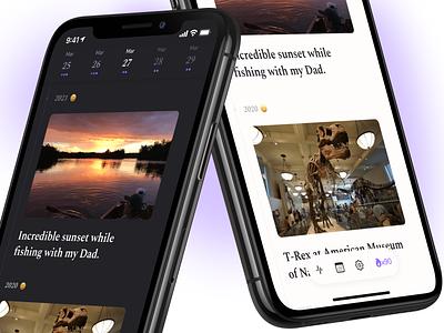 Diem 2.0 diem diary journal swiftui design ui app ios iphone