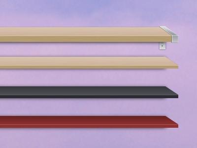 Desktop shelves