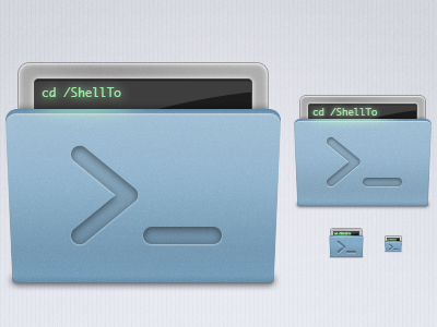 ShellTo: Updated Icon shellto shell terminal icon icons mac app
