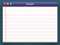 Notepad App Mockup