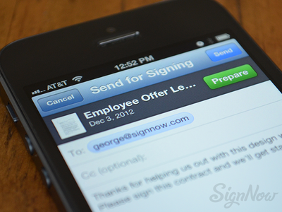 SignNow - Send For Signing email send signnow iphone ios