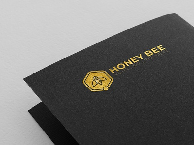 Honey Bee Logo Design branding simple logo design honey logo bee logo logo illustrator icon hornet honey graphic flower design creativity corporate business brand black bee animal