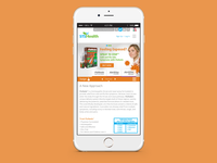 STS Health Website - Mobile Overview