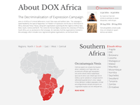 DOX Africa Website - Map