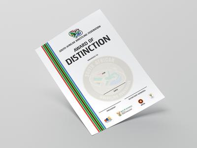 SAWF Distinction Award Certificate