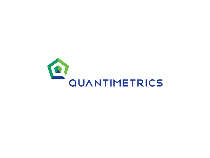 QuantiMetrics Logo letter lettering q pentagon green blue logos logo design business brand design brand identity brandidentity branding symbol icon vector corporate logodesign logo