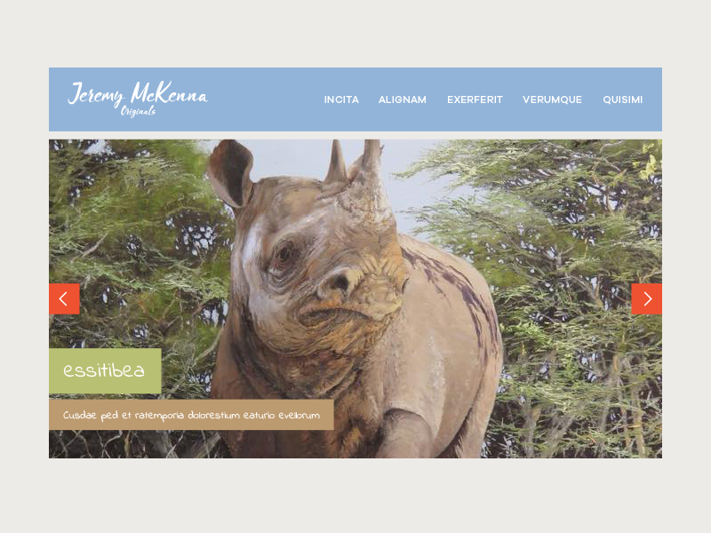 Jeremy Mckenna Website Ui safari swatch palette web design paintings painting artwork african africa colour palette colour color palette color ui design uidesign ui  ux uiux ui website web
