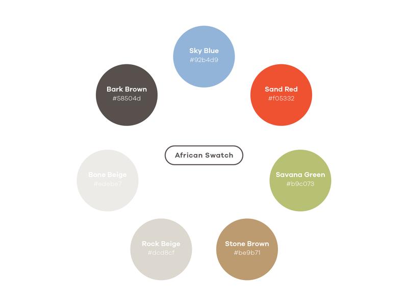Jeremy Mckenna Website Swatch stone savana sand sky palettes web ui design uidesign ui  ux uiux ui color colour color palette colour palette african africa palette swatch safari
