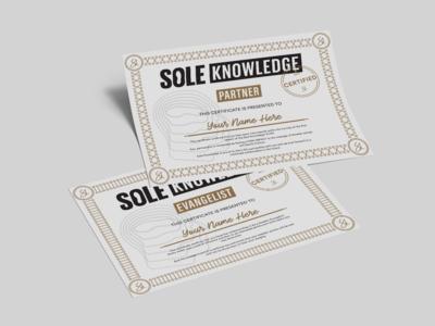 Sole Knowledge Certificate