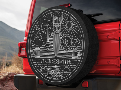 Jeep Wrangler Viking Edition Wheel Cover