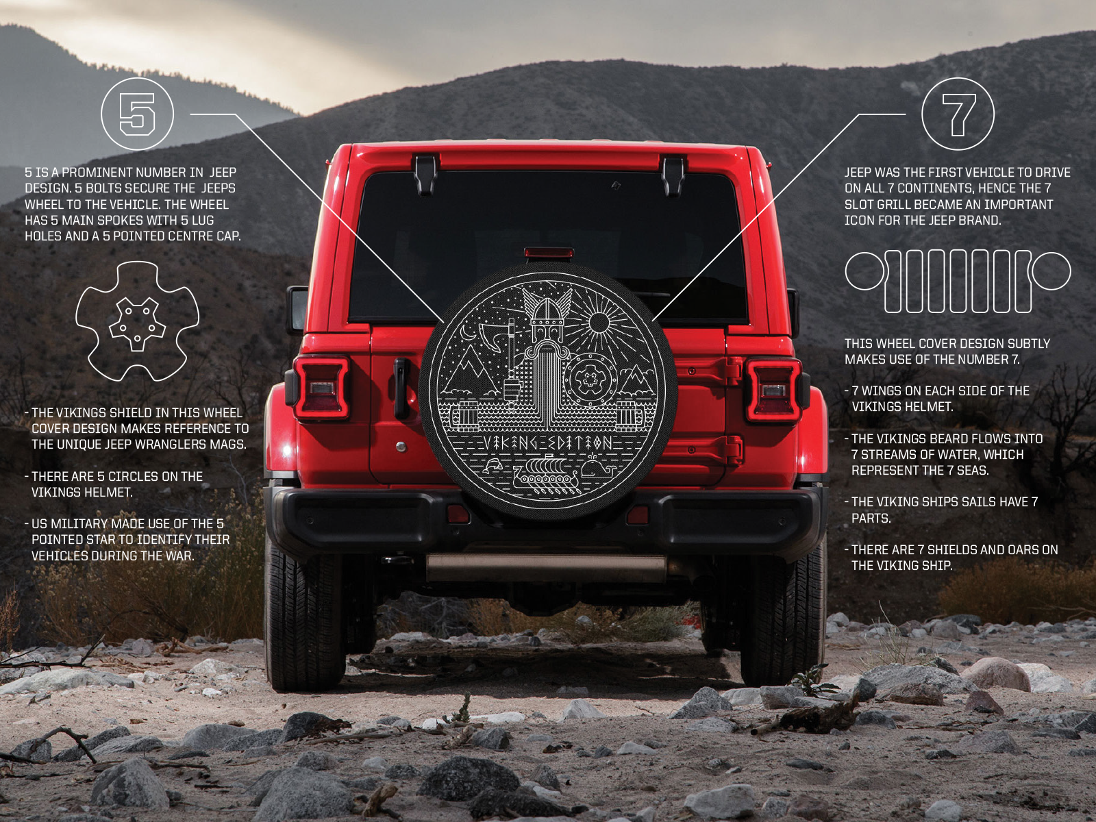 Jeep Wrangler Viking Edition Wheel Cover By Nathan Venn On Dribbble