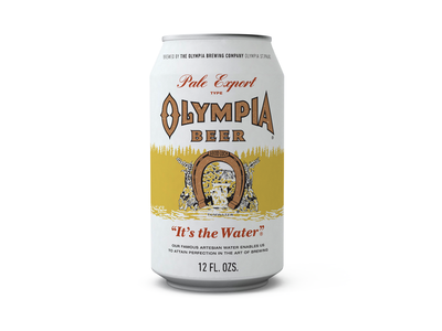Kurt Cobain Olympia Beer Can lake horseshoe lucky craft ale pale olympia can beer vintage classic