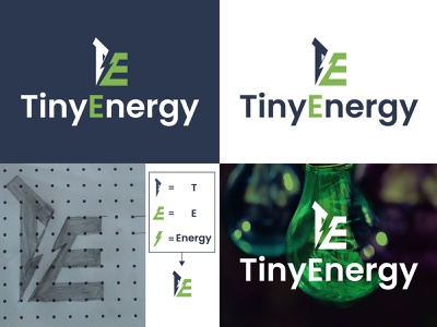 Tiny Energy Logo Design te logo e logo t logo power energy logo design design flat minimal minimalist typography vector illustration app icon branding graphic design logo