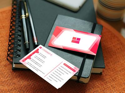 Business Card Design visiting card design card design app flat ui vector ux design logo illustration branding graphic design business card