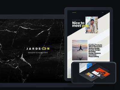 Say hello to my new website & logo semplice website logo branding animation interaction interface ux ui