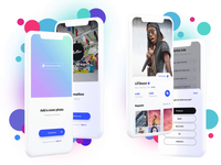 YouSound Sign Up interaction design product design music colors principle animation app interface ux ui