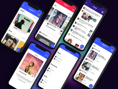"""""""MusicApp"""" – Discover Page ios product design interaction music app interface ui ux"""