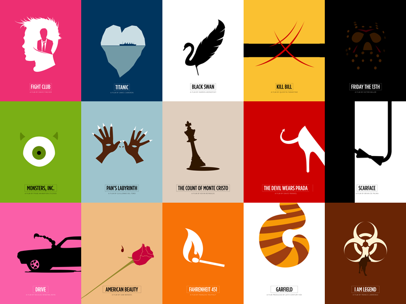 Minimal Movie Posters By Jardson Almeida On Dribbble