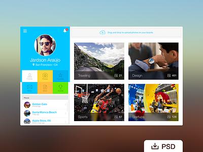Free PSD: Webapp Profile free psd dashboard app design flat icon ui ux product web freebie