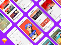 Music App • FREE UI Kit for Sketch