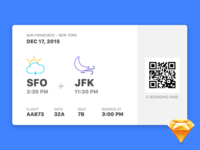 E-Boarding Pass resource download weather freebie sketch boarding pass travel ui flat app interface