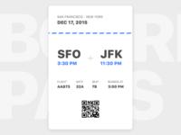 E-boarding Pass vertical orientation