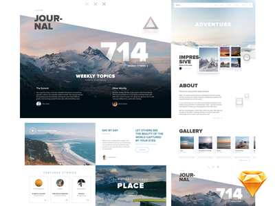 Wild_ Website • FREE Template for Sketch parallax contact gallery photography freebie sketch travel ui modern website interface