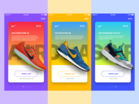Nike In-App Promotions • Sketch FREEBIE