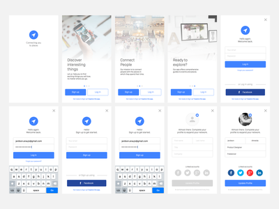 Sign In Project • 50 FREE iOS App Screens for Sketch interface app ios iphone ui ux uiux sketch freebie usability download resource