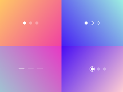Page Control Indicator — Transitions Collection interaction principle freebie motion ux ui ios colors gradient app
