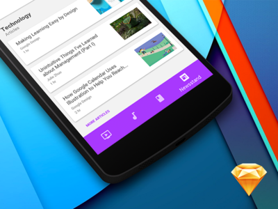 Bottom Navigation for Material Design — FREEBIE for Sketch