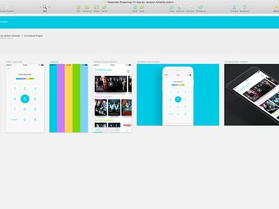 Passcode Screen Animation for Streaming-TV App sketch login passcode tv uiux ux ui freebie animation interaction principle app