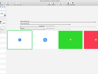 📞 Phone Ringing Animation — Principle FREEBIE icon google design ios material design interaction ux uiux animation principle material