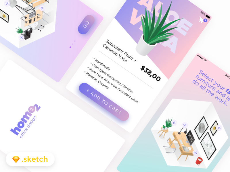Download Home2 Interior Design App –– Sketch FREEBIE