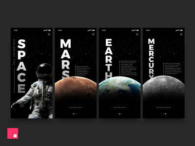 Exploring The Space –Made with InVision Studio iphone x planets interface interaction uiux ux ui space invision studio studio animation app