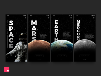 Exploring The Space – Made with InVision Studio