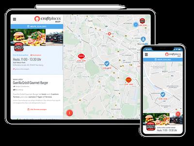 Craftplaces Map minimal web design ui ux jamstack vuejs craftplaces