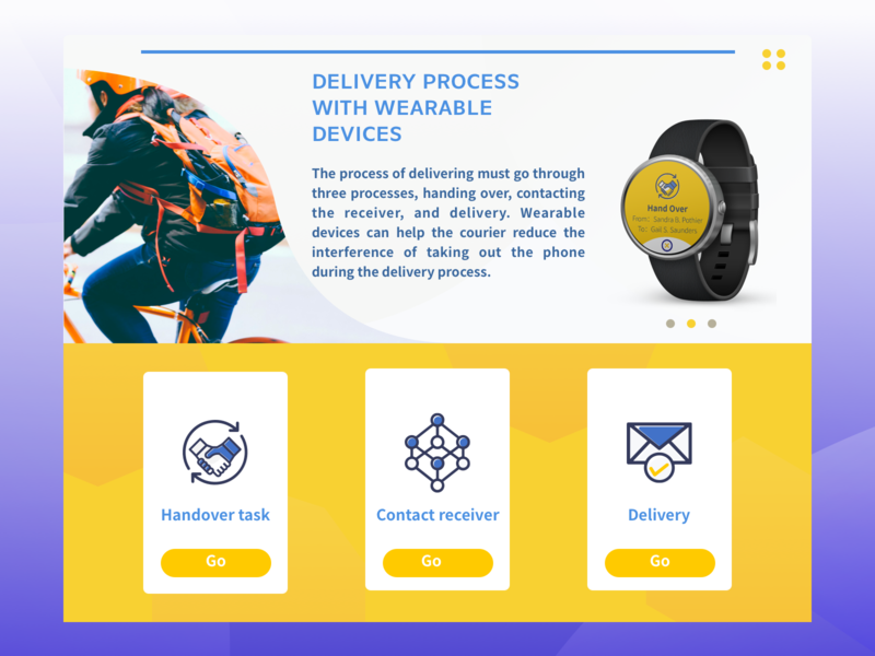 DailyUi#7 « Landing Page watch watch design wearable tech wearable delivery handover courier landing page dailyui