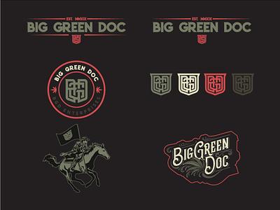 Big Green Doc CBD illustrator vector cannabis logo cbd branding
