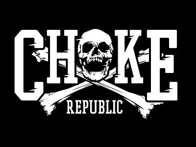 Choke Republic - Crossed Bones vector design jiu jitsu illustration brazilian jiu jitsu bjj jiu-jitsu branding